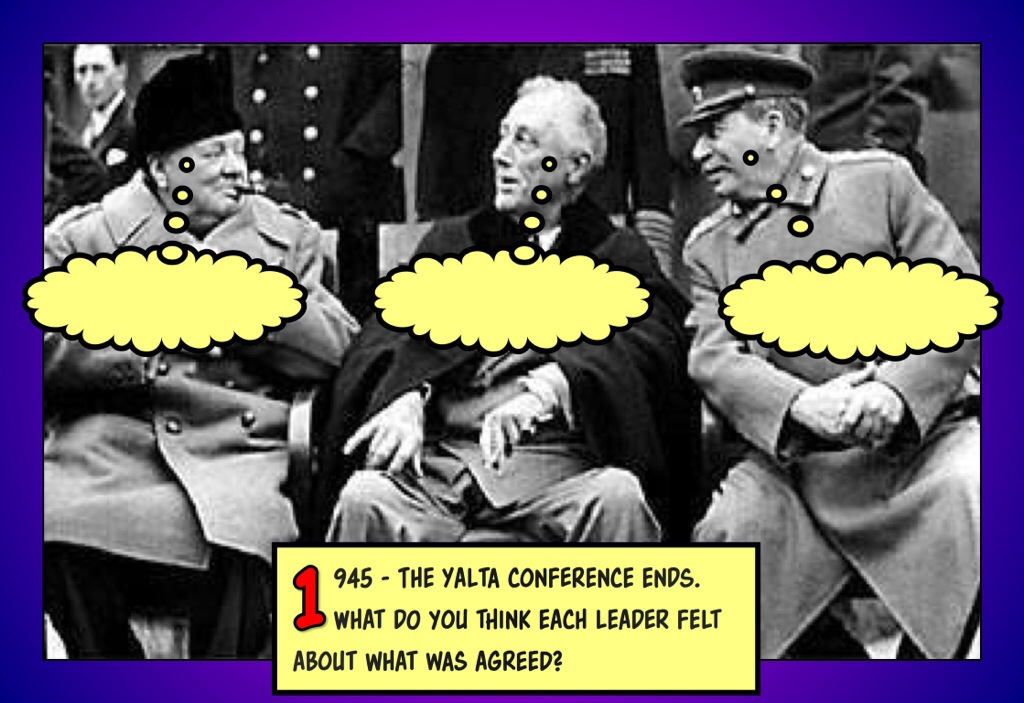 Yalta Conference Caption Competition Poster Jivespin